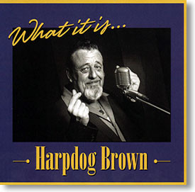 """""""What It Is..."""" blues CD by Harpdog Brown"""
