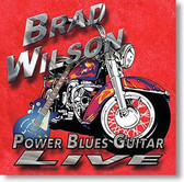 """Power Blues Guitar Live"" blues CD by Brad Wilson"