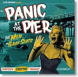 """Panic At The Pier"" surf CD by The Men In Gray Suits"