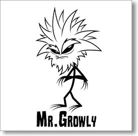 """""""Self Titled"""" surf CD by Mr. Growly"""
