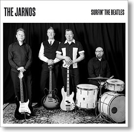 """Surfin' The Beatles"" surf CD by The Jarnos"