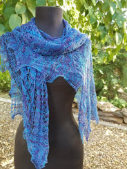 Lace Custom Knit Shawl - Majestic Mountains