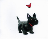 Scottie and Butterfly Card