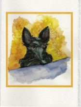 """I see you!"" Scottie Art Card"
