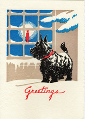 "Scottie ""Doggie in the Window"" Card"
