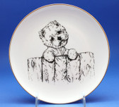 Westie Plate with Fence Design