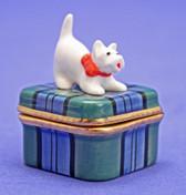 Westie Porcelain Box