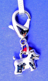 Christmas Scottie Charm