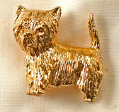 Westie Gold Silhouette Pin