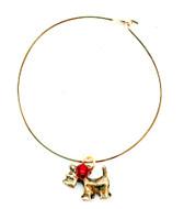 Gold Bracelet with Scottie Charm