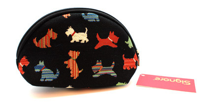 Scottie Tapestry Cosmetic Bag
