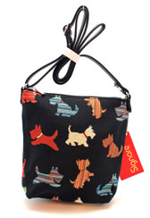 Scottie Tapestry Sling Bag - front view