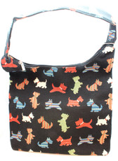 Scottie Tapestry Hobo Bag