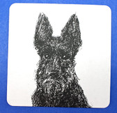 Scottie Coaster - reversible