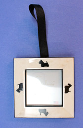 Ivory Frame with Black Scotties