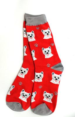 Westie Red Socks