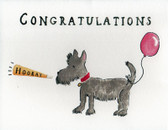 Scottie Congratulations Card