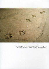 Paw Prints Sympathy Card