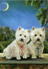 "Two Westies ""Moonlighters"" Card"