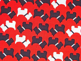"""Urban Zoologie"" Red Scottie Fabric"