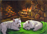 """A Winter's Night"" Westie Card"