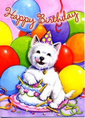 Berlin Westie Balloon Card