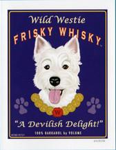 """""""Wild Westie Frisky Whiskey"""" Card"""