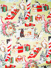 """Doggie in the Window"" Sage Fabric"