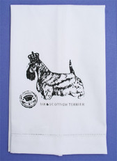 "Crisp Cotton ""Sir Scottie"" Guest Towel"