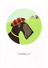 "Scottie ""Bagpipes"" Birthday Card"