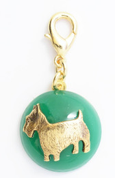 Maximal Art Emerald Green Scottie Charm