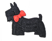 Embroidered Scottie Applique