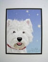 "Westie ""Starry Night"" Print"