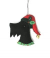 Santa Scottie Felt Ornament