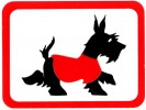 Rectangular Deco Scottie Sticker