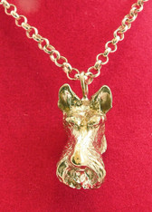 Scottie Head Necklace