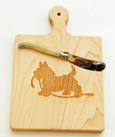 Scottie Cheese Board with Cheese Knife