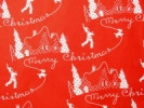 Aunt Grace Scottie Silhouettes on Red Fabric