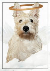 Lil' Angel Scottie Sympathy Card