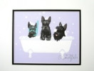 """Spa Day"" Scottie Print"