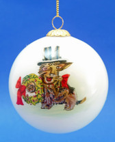 Rakish Scottie with a Top Hat Ornament