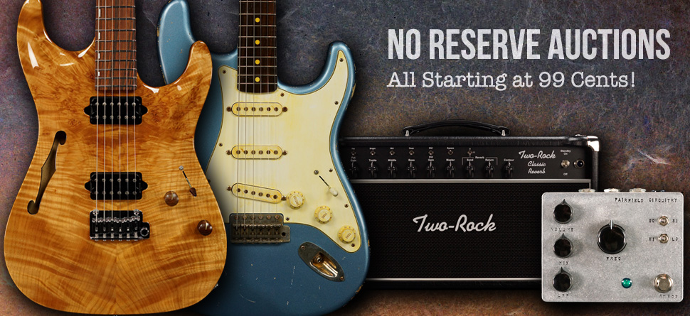 Were Running No Reserve Auctions On EBay Right Now And Every One Starts At Just 99 Cents With Floor Model Guitars Amps