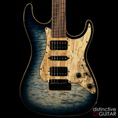 Suhr Standard Custom Hand Picked NAMM Top Faded Whale Blue Burst 31369