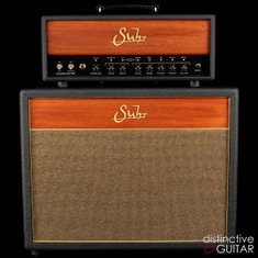 Suhr Hedgehog 50 Amplifier Head w/ 2 x 12 Cabinet Black / Wood
