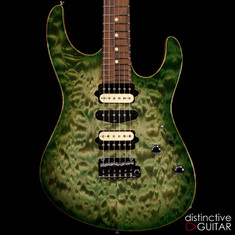 Suhr Custom Modern Quilt Top Faded Trans Green Burst