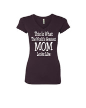 Mothers day Worlds greatest mom Sporty Tee Shirt