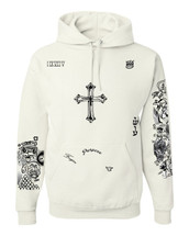 Bieber body Tattoos Hooded sweatshirt unisex