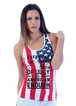 Everyday is the 4th of July RACER BACK TANK W US FLAG