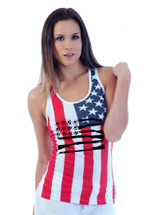 American gun flag RACER BACK TANK W US FLAG
