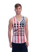 American anf forever MEN tank top US FLAG DISTRESSED